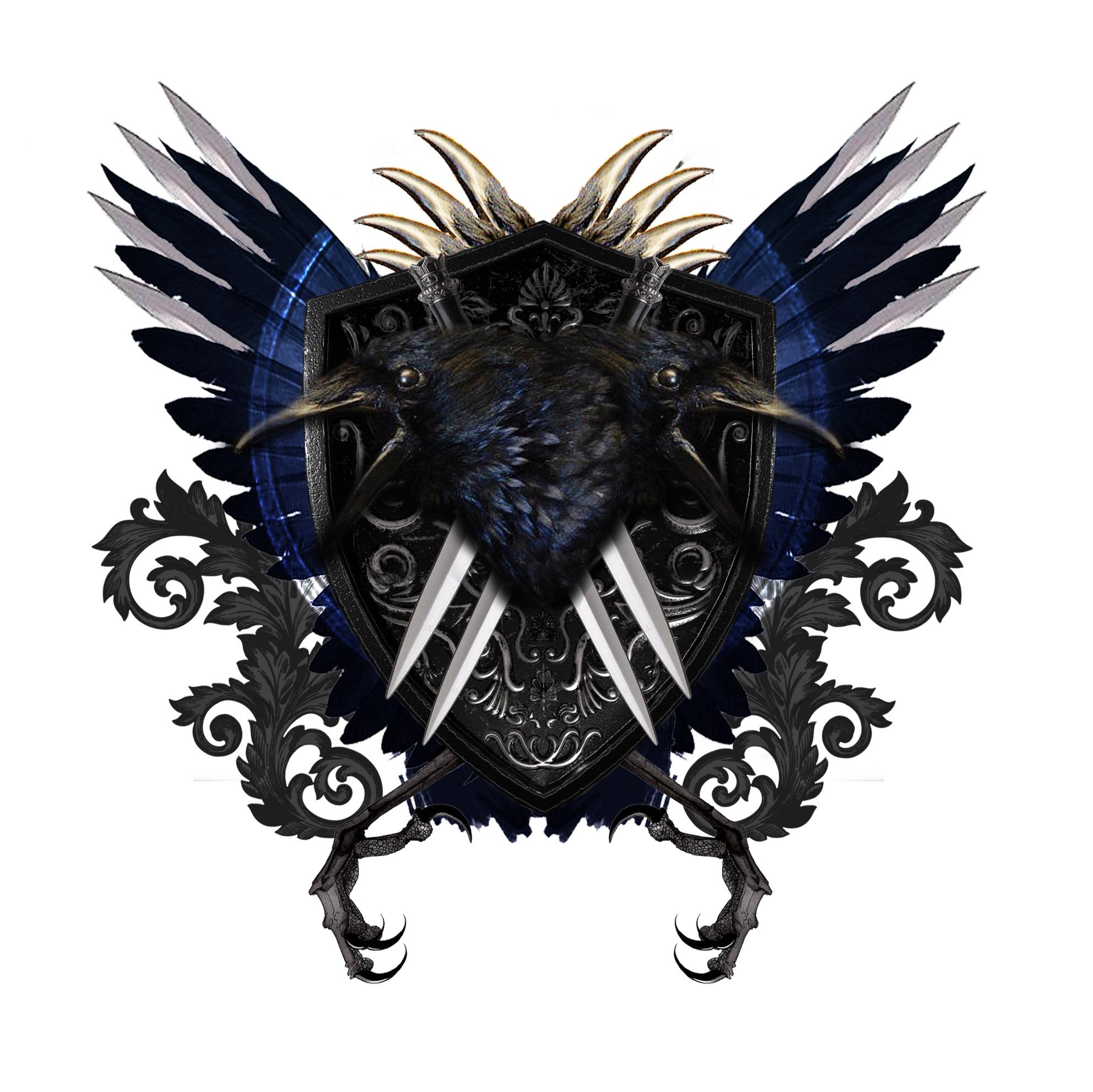 ravenfamilycresttwodagger